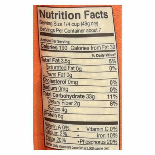 Alter Eco Americas Quinoa - Organic Pearl Heirloom - Case of 6 - 12 oz. Perspective: back