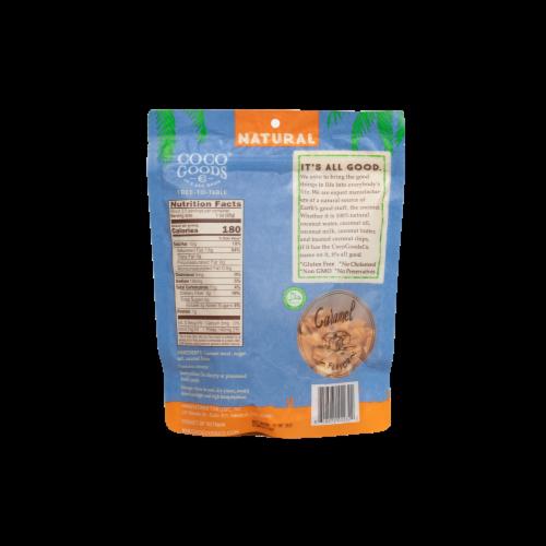 Natural Coconut Chips Caramel 3.5 oz, Zip lock Bag Perspective: back