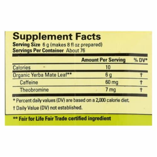Ecoteas Organic Yerba Mate Unsmoked Green Energy Loose Tea - Case of 6 - 1 lb. Perspective: back