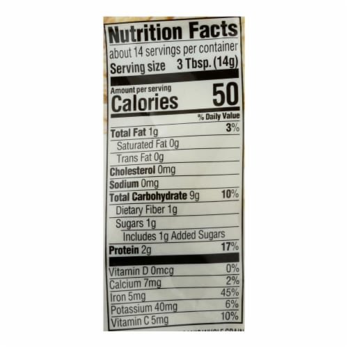 Happy Baby - Cereal Oatmeal - Case of 6 - 7 OZ Perspective: back