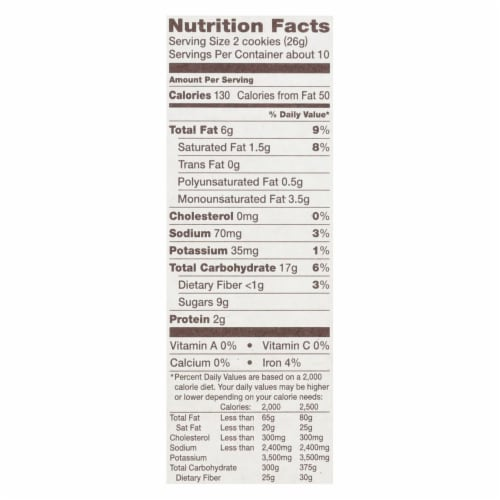Back To Nature Chocolate Chunk Cookies - Case of 6 - 9.5 oz. Perspective: back