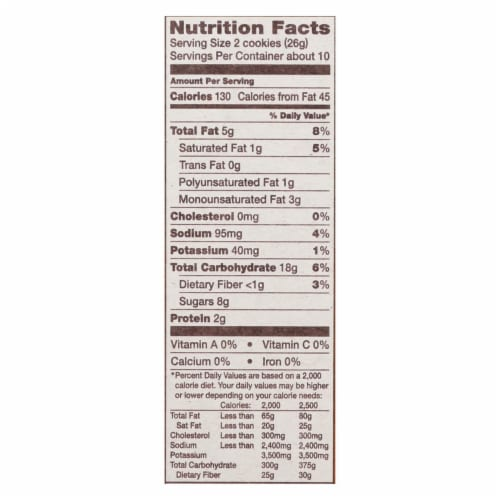 Back To Nature Creme Cookies - Peanut Butter - Case of 6 - 9.6 oz. Perspective: back
