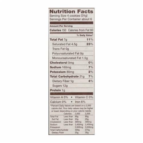 Back To Nature Cookies - Fudge Mint - Case of 6 - 6.4 oz. Perspective: back