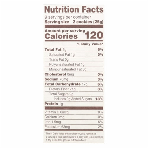 Back To Nature Cookies - Chewy Chocolate Chunk - Case of 6 - 8 oz Perspective: back