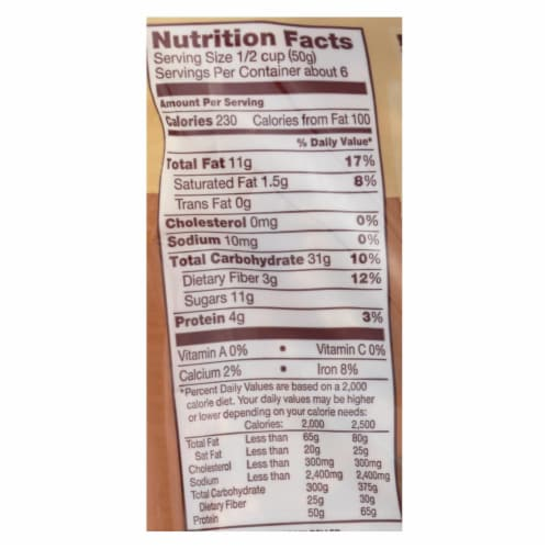 Back To Nature Granola - Dark Chocolate Coconut - Case of 6 - 11 oz. Perspective: back