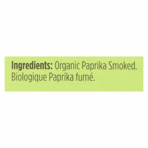 Spicely Organics - Organic Paprika - Smoked - Case of 6 - 0.45 oz. Perspective: back