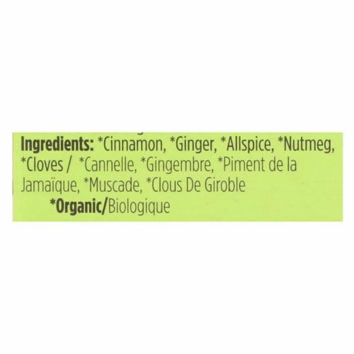 Spicely Organics - Organic Seasoning - Pumpkin Pie Spice - Case of 6 - 0.35 oz. Perspective: back