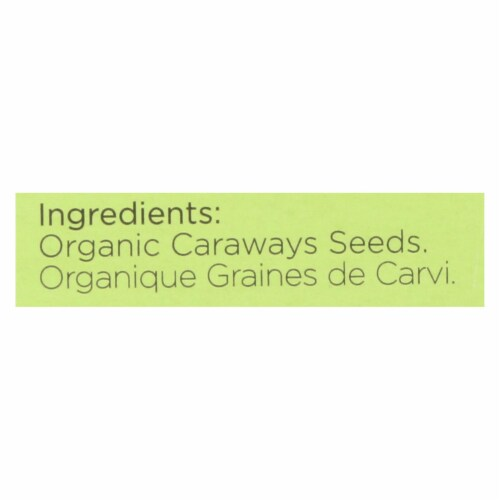 Spicely Organics - Organic Caraway Seeds  - Case of 6 - 0.35 oz. Perspective: back