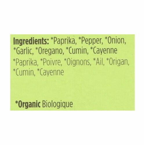Spicely Organics - Organic Cajun Seasoning - Case of 6 - 0.4 oz. Perspective: back