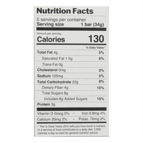 Bakery On Main - Granola Bar Peanut Butter & Chocolate - Case of 6-5/1.2 OZ Perspective: back