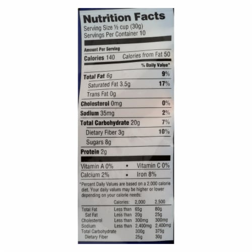 Bakery On Main Bunches of Crunches Granola - Coconut Cacao - Case of 6 - 11 oz. Perspective: back