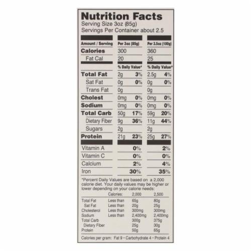 Tolerant Organic Pasta - Red Lentil Rotini - Case of 6 - 8 oz Perspective: back