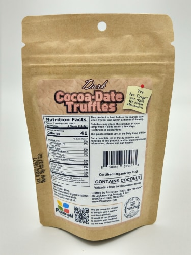 Cocoa Date Truffle Bites- Dark- 6 Pack Perspective: back