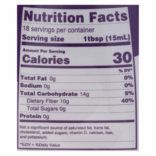 Pyure Brands Honey Flavored Sugar-Free Syrup Stevia Sweetener  - Case of 6 - 13.05 OZ Perspective: back