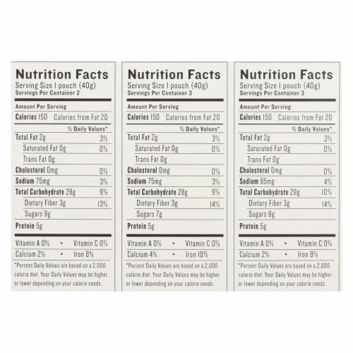 Gluten Freeda Oatmeal - Variety Pack - Case of 8 - 11.2 oz. Perspective: back
