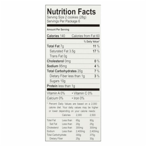 Cybel's Free To Eat Snickerdoodle Cookies - Case of 6 - 6 oz. Perspective: back