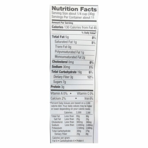 Love Grown Foods Oat Clusters - Raisin Almond Crunch - Case of 6 - 12 oz. Perspective: back