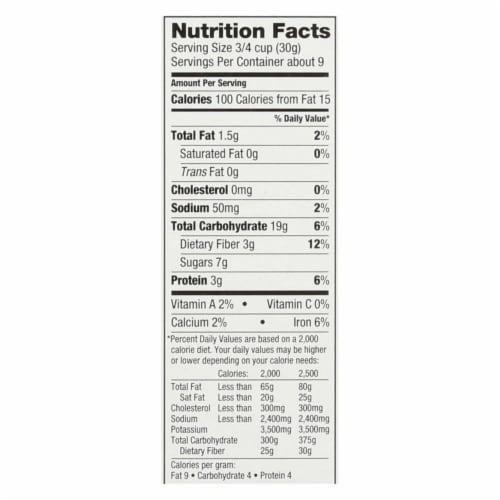 Love Grown Foods Chocolate Comet Crispies - Case of 6 - 9.5 oz. Perspective: back