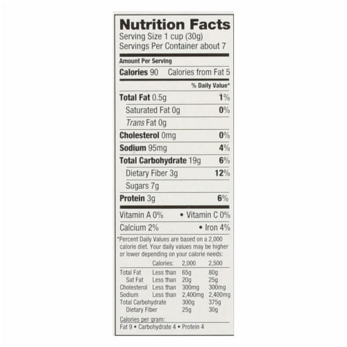 Love Grown Foods Cereal - Lion Loops - Case of 6 - 7.5 oz Perspective: back