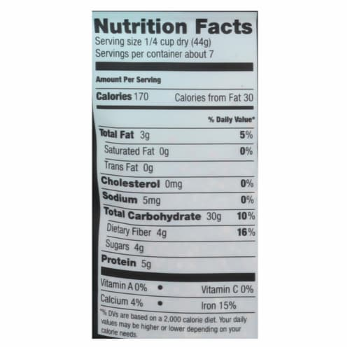 Truroots Organic Red Quinoa - Case of 6 - 12 oz. Perspective: back