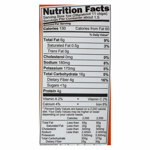 Beanfields - Bean and Rice Chips - Pico De Gallo - Case of 24 - 1.5 oz. Perspective: back