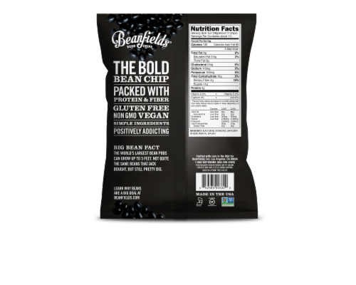 Beanfields - Bean and Rice Chips - Black Bean With Sea Salt - Case of 24 - 1.50 oz. Perspective: back