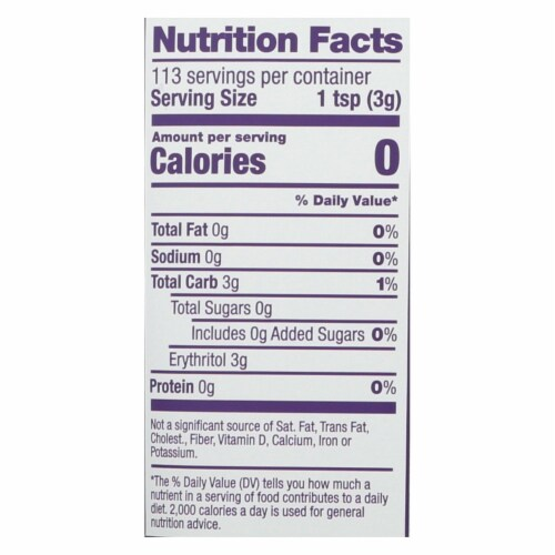 Swerve - Sweetener - Confectioners - Case of 6 - 12 oz. Perspective: back