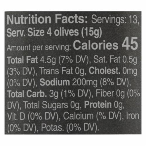Mina - Olives Black Dry Cured - Case of 6 - 7 OZ Perspective: back