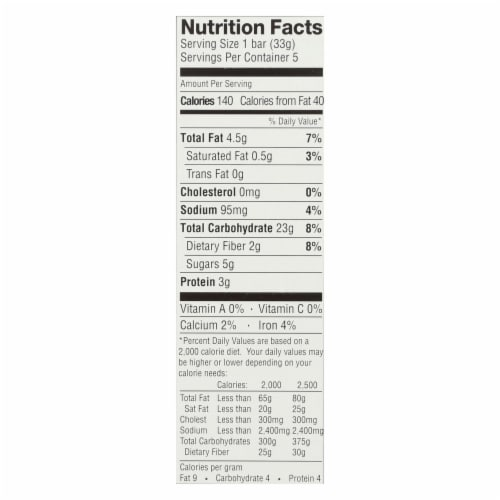 Enjoy Life - Snack Bar - SunSeed Crunch - Gluten Free - 5 oz - case of 6 Perspective: back