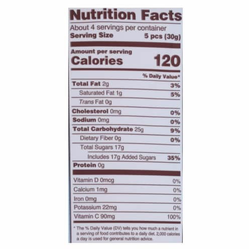 Torie and Howard Chewie Fruities - Pomegranate and Nectarine - Case of 6 - 4 oz. Perspective: back