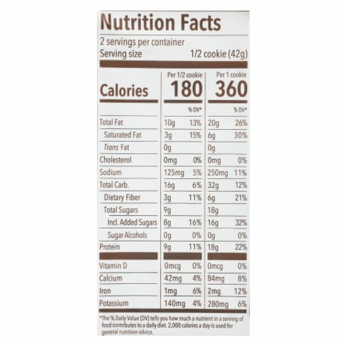 Munk Pack - Protein Cookie - Coconut White Chocolate Chip Macadamia - Case of 6 - 2.96 oz. Perspective: back