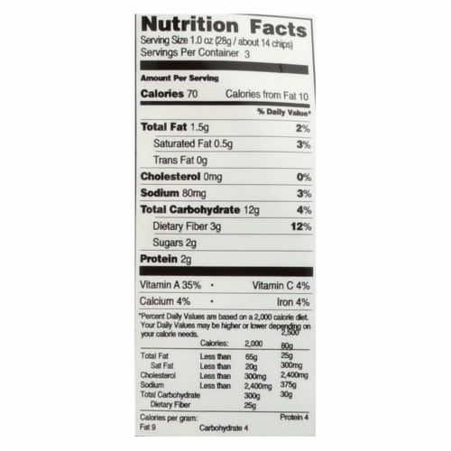 Brad's Plant Based - Chips - Organic - Sweet Potato - Case of 12 - 3 oz Perspective: back