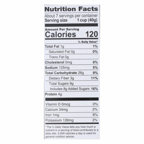 Love Grown Foods - Cereal Power Os Cinnamon - Case of 6 - 9 OZ Perspective: back