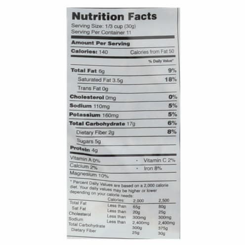Purely Elizabeth Organic Ancient Granola Cereal and Puffs - Pumpkin Fig - Case of 6 - 12 oz. Perspective: back