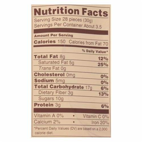 Lebby Snacks - Chickpea Snacks Dark Chocolate - Case of 6 - 3.5 OZ Perspective: back