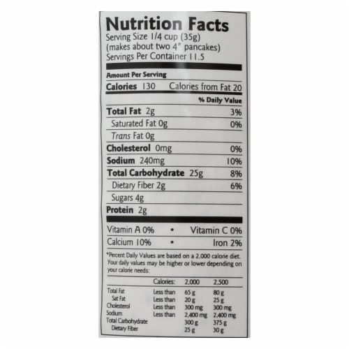 Birch Benders Pancake and Waffle Mix - Gluten Free - Case of 6 - 14 oz. Perspective: back