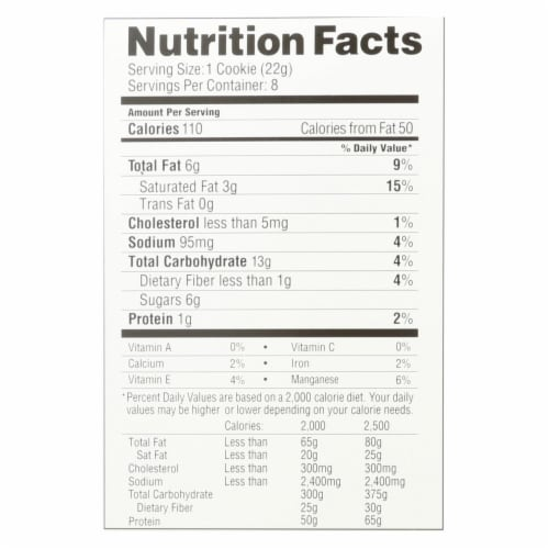 Simple Mills Soft Baked Snickerdoodle Cookies - Case of 6 - 6.2 OZ Perspective: back
