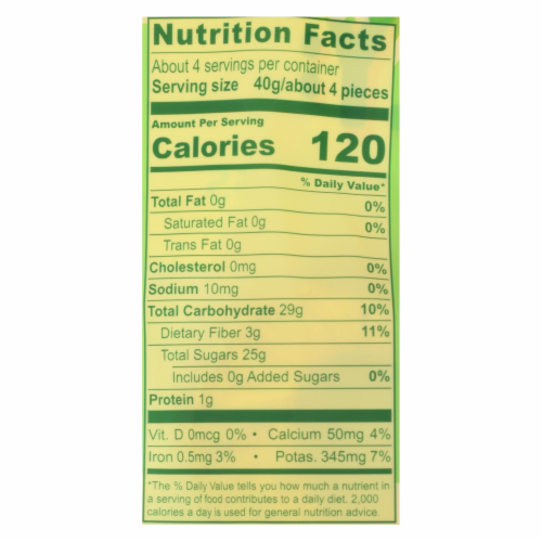 Solely - Dried Fruit Organic Pineapple Rings - Case of 6-5.5 OZ Perspective: back