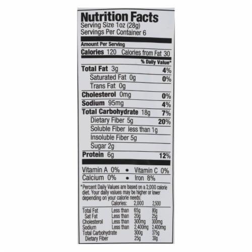 The Good Bean Crispy Crunchy Chickpea Snacks - Sea Salt - Case of 6 - 6 oz. Perspective: back
