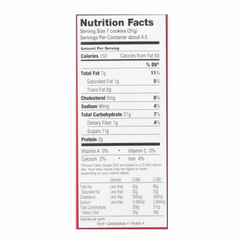 Homefree - Gluten Free Mini Cookies - Chocolate Chip - Case of 6 - 5 oz. Perspective: back