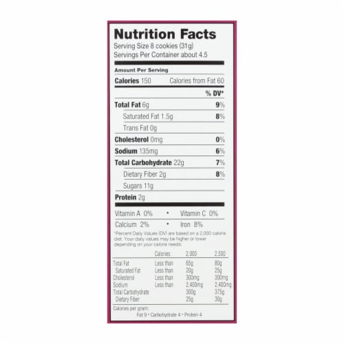 Homefree - Gluten Free Mini Cookies - Double Chocolate Chip - Case of 6 - 5 oz. Perspective: back