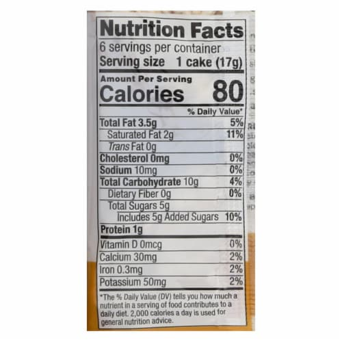 Element Organic Dipped Rice Cakes - Milk Chocolate - Case of 6 - 3.5 oz Perspective: back