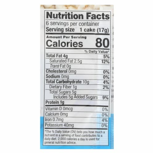 Element Organic Dipped Rice Cakes - Dark Chocolate - Case of 6 - 3.5 oz Perspective: back