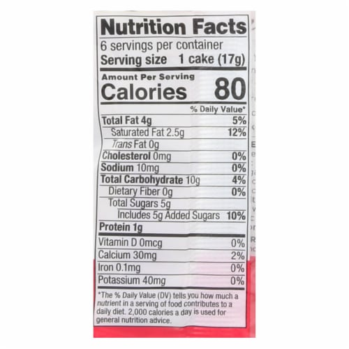 Element Organic Dipped Rice Cakes - Strawberry'N'Cream - Case of 6 - 3.5 oz Perspective: back