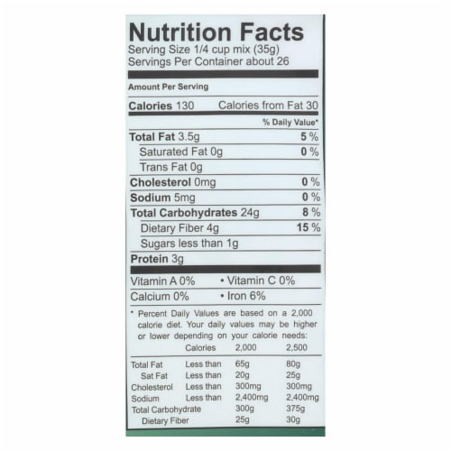Cup 4 Cup - Wholesome Flour Blend - Case of 6 - 2 lb. Perspective: back