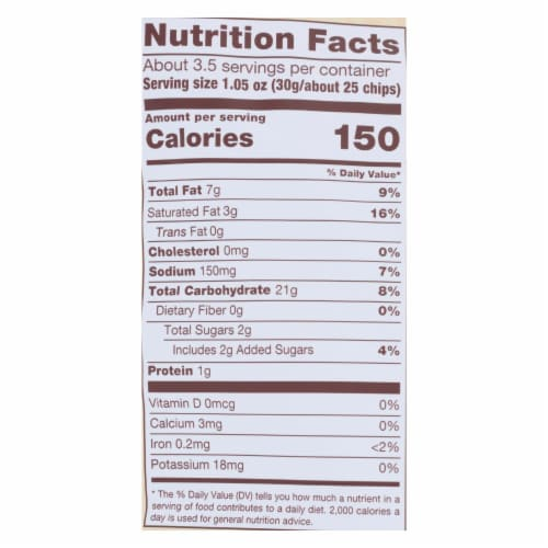 Dang - Sticky Rice Chips - Original - Case of 12 - 3.50 oz Perspective: back