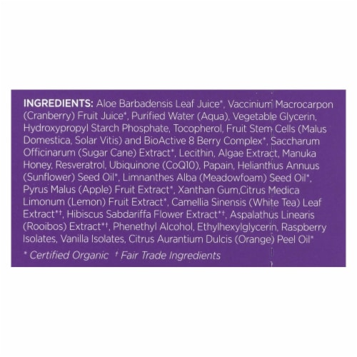 andalou Naturals Instant Age Defying Face Mask - 8 Berry Fruit Enzyme - Case of 6 - 0.28 oz Perspective: back