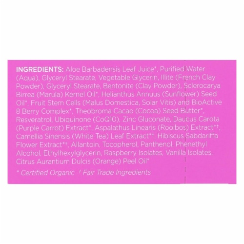 andalou Naturals Instant Lift & Firm Face Mask-Marula Oil & French Clay-Case of 6-0.28 oz Perspective: back