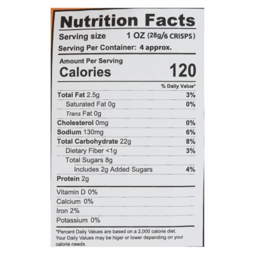 Craize - Corn Crisps Plantain Toasted - Case of 6 - 4 OZ Perspective: back