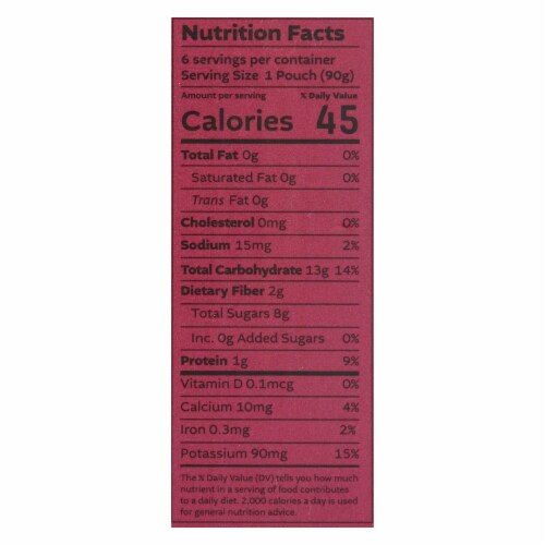White Leaf Provisions - Baby Food Apple Sweet Potato Beet - Case of 6 - 3.2 OZ Perspective: back